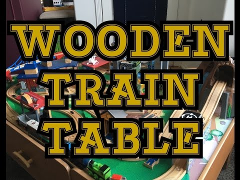 IMAGINARIUM WOODEN RAILWAY TRAIN TABLE LAY OUT, SOUNDS AND MODS
