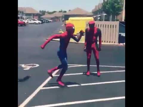 DEADPOOL VS SPIDER-MAN (Dance challenge) || Mask Off music
