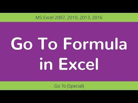 Learn Go To Formula in Excel | Excel Formulas