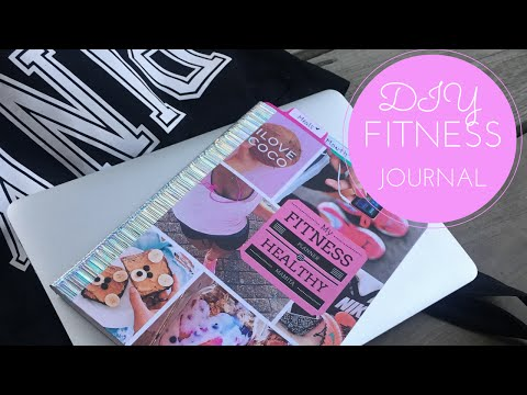 Fitness Journal DIY for Motivation!
