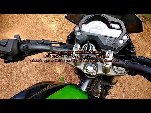 How to flush engine oil with Kerosene/Diesel.for bikes..DIY