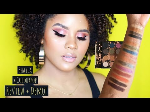 OOUUUU OR EHHH? HONEST AF SHAYLA X COLOURPOP DEMO & REVIEW | WORTH THE HYPE? | CURLSFOTHEGIRLS