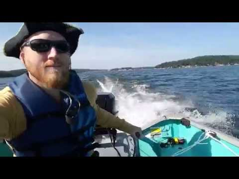 35 HP Evinrude on a Duranautic 16 out on Lake Hopatcong