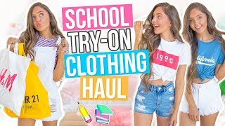 027297ccec6 Back to School CLOTHING HAUL 2017! Forever 21