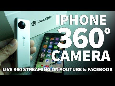 Insta360 Nano Camera for iPhone – Live Stream 360 Video on Facebook YouTube and Periscope