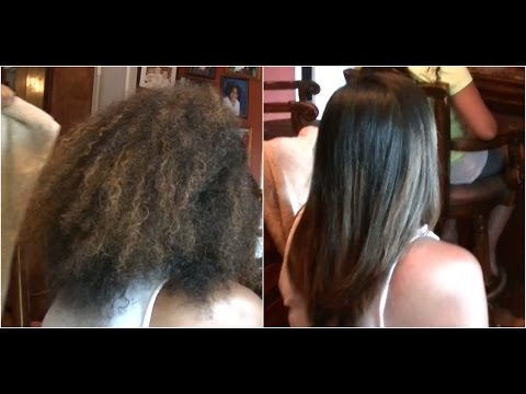 Frizz Free Hair ✿ Keratin Treatment on Natural Hair ✿ Straightening Curly Hair ✿ Kimmy Boutiki