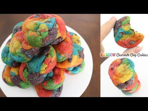 Rainbow Chocolate Chip Cookies!