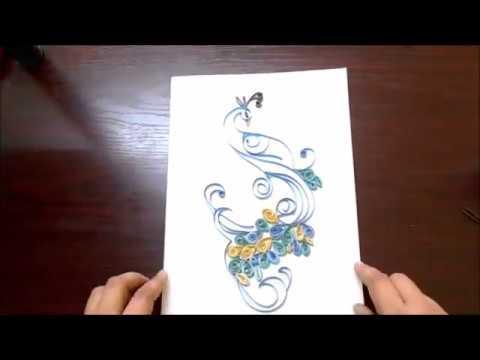 Paper Quilling ideas 1 || DIY || MSArts DIY || Peacock