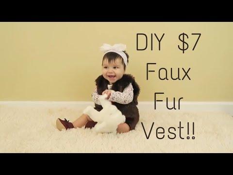 DIY Faux Fur Vest!
