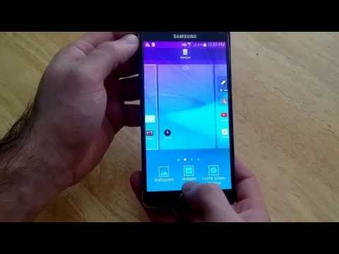 Samsung Galaxy Note 4 - How to get to the widgets