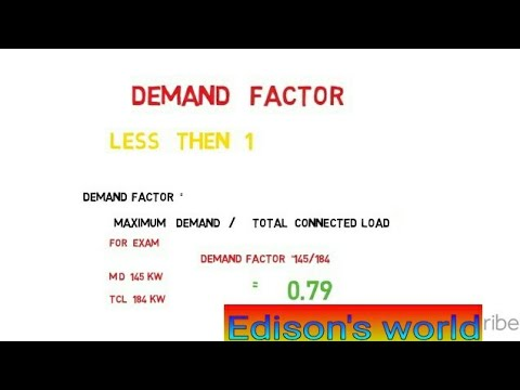How to calculate demand factor simple formula new explanation