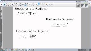 Convert Radians To Revolutions To Degrees