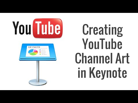 Designing a YouTube Header with Keynote