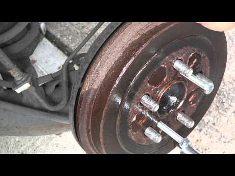 How to remove rotor drums off a 2007 toyota corolla S and up