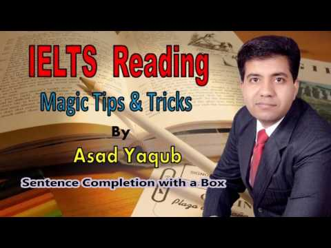 09. IELTS Reading Sentence Completion with a Box