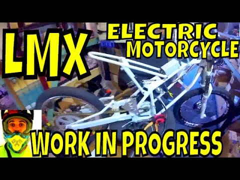 eMax preparing a Racing 72v LMX Electric Motorcycle for the Hunter Electric Vehicle Festival 2016