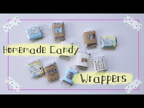 How to make your own candy wrappers (Valentine's gift idea | for him, for her)