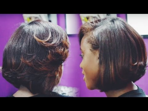 My Natural Hair Flat Ironed Bob Cut by Prinshell | iknowlee