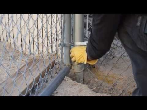 DIY Chainlink Fence Cut, Stretch, and Tie up Part 1
