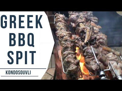 Cooking BBQ Rotisserie- Greek Spit
