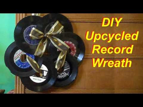 How to Make a Wreath from Old Records
