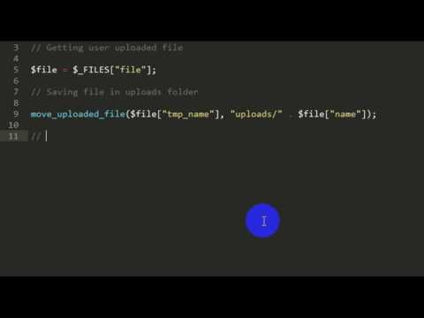 Download and Upload files using HTML & PHP