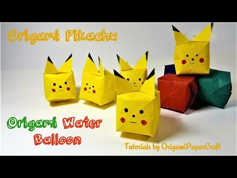 How To Make Origami WATER BALLOON And Origami PIKACHU || Tutorial By OrigamiPaperCraft