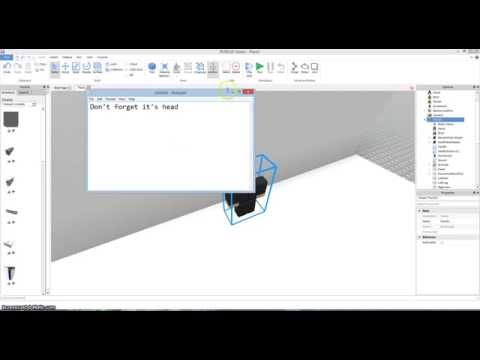 How to make Dialog and talking person on roblox 2014