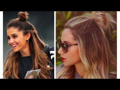 EASY HALF UP MESSY BUN HAIR TUTORIAL | SHORT + LONG HAIR