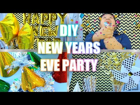 DIY NEW YEARS EVE PARTY !!  /// DIY party decoration ideas / DIYS by Abraham