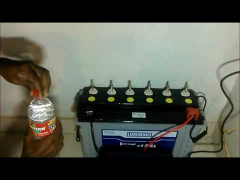How To Fill Battery Water In Home Luminous Inverter UPS BATTERY
