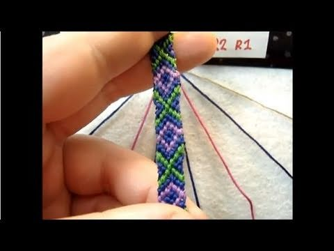 ► Friendship Bracelet Tutorial - Beginner - XOXO pattern (v2)
