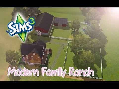 Modern Family Ranch [SPEEDBUILD #1] - The sims 3