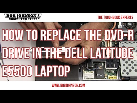 How to replace the DVD-R Drive in the Dell Latitude E5500 Laptop