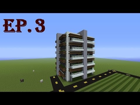 How to Build a Modern Apartment Complex in Minecraft - Part 3