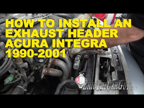 How To Install an Exhaust Header Acura Integra 1990-2001