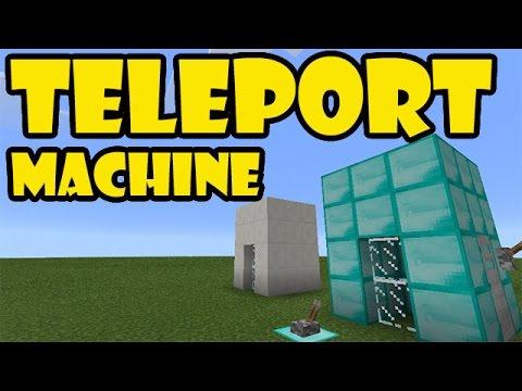 TELEPORT MACHINE TUTORIAL | Minecraft PE Redstone Contraption