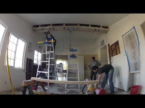 Kitchen Remodeling - Day 3 of 17 - Soffit Box Construction, Electric Work, Demolition and Tile Prep