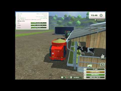 Farming Simulator 2013  -  Feeding Cows