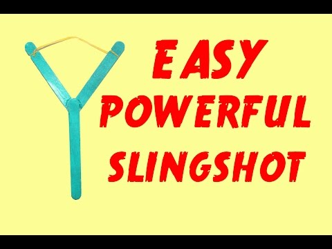 How to Make a Mini Slingshot - Very Simple