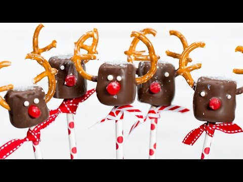 Marshmallow Reindeer Pops | Southern Living