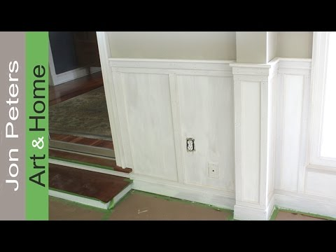 How to Install Chair Rail with Flat Panel Wainscoting