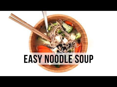 One Pot Veggie Noodle Soup | VEGAN & EASY