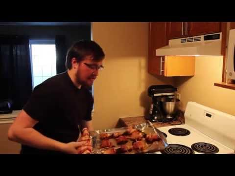 Chronic Kitchen Episode 2: Sweet and Spicy Bacon Wrapped Chicken Bites