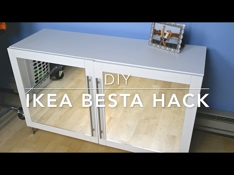 DIY: IKEA BESTA Hack - Mirrored Cabinet