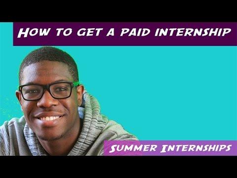 How to get an internship