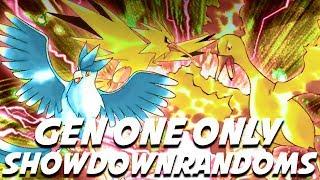 GEN ONE ONLY PARA IS BROKEN! Pokemon Showdown Random Battles w/ ShadyPenguinn