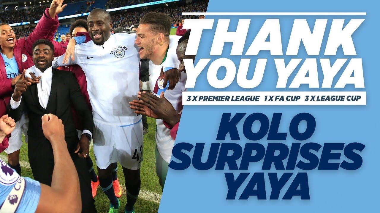 KOLO SURPRISES YAYA!   Yaya Toure Goodbye