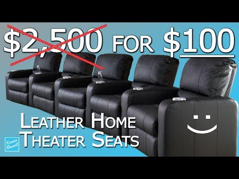 I Payed $100 for Five Home Theater Leather Seats! ($2500 New)