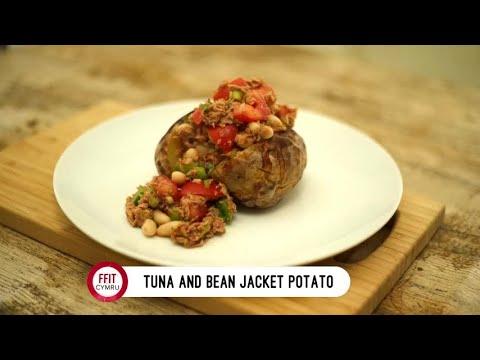 Tuna and Bean Jacket Potato #FFITCymru